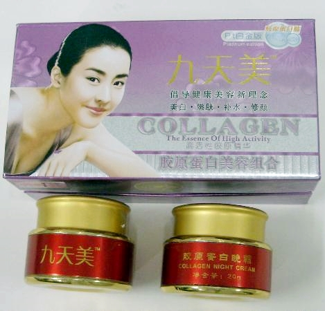 Creams Containing Mercury-Collagen Night Cream